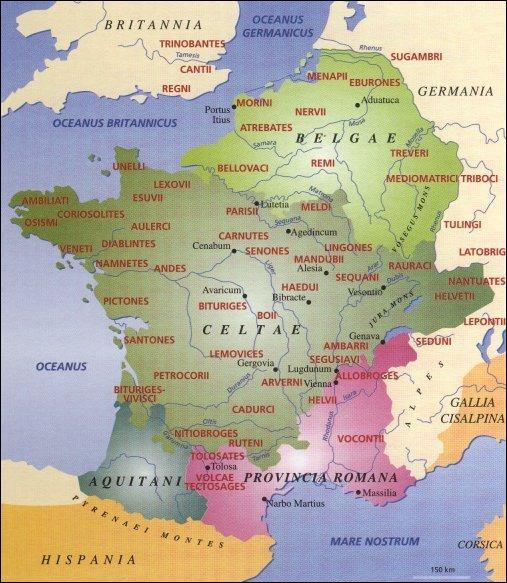 On le sait peu, mais la France et les régions voisines ont été sujettes à un génocide majeur durant l'antiquité. De 58 avant J.C. à 50 avant J.C. quel pourcentage de la population gauloise fût-elle tuée, réduite en esclavage ou déportée par les romains ?