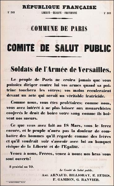 De mars à mai 1871, quel mouvement insurrectionnel connaît la ville de Paris ?
