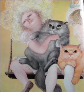 Qui a peint Les chats ?