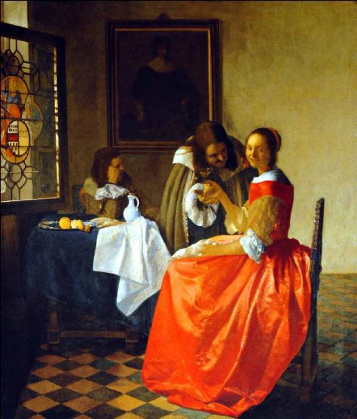 Qui a peint La jeune fille au verre de vin ?