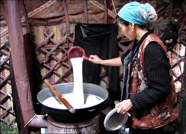 """On appelle mon premier, """"kiki"""". Mon second est élu reine de beauté. Mon tout est un lait fermenté d'Asie centrale."""