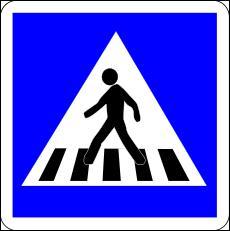 Ce panneau de passage pour piétons est... !
