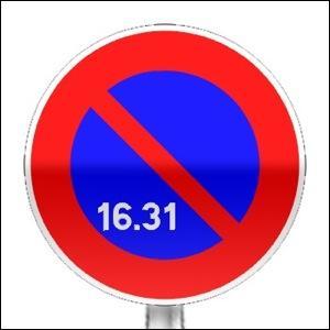 Vous avez l'interdiction de stationner du ------.