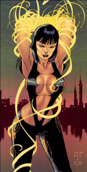 Comment est appelée la mutante (et non pas la X-men) Sybil Dvorak capable de contrôler tout ce qui est tissu et fil au point d'en faire des armes redoutables ? De qui est-elle l'ennemie ?