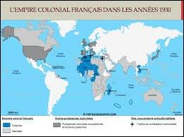 """À la fin du XIXe siècle, la France possédait de nombreuses régions dans le monde. Comment appelait-on cet """"empire"""" ?"""