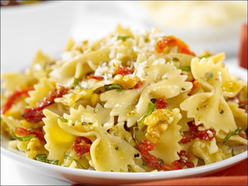 ... dried tomato hummus farfalle with gorgonzola sun dried tomato sauce