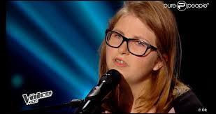 """""""Just Give Me a Reason"""" est la chanson choisie par Sarah, 13 ans, pour participer à l'émission. Combien de coachs a-t-elle convaincu ?"""