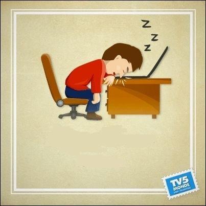 Pour dire s'endormir dans le train ou devant la télé, on peut dire aussi