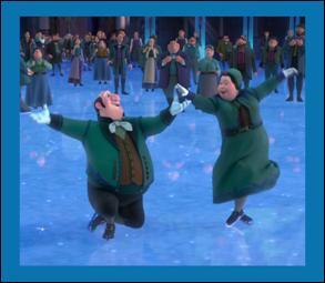 Sur quoi ces habitants font-ils du patin ?