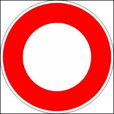 Alors là, il s'agit du plus simpliste de tous les panneaux du Code de la route ! Que veut-il nous faire comprendre ? (Hé oui ! Il y a bien quelque chose à comprendre ! )