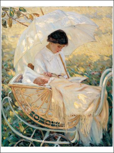 """Qui a peint """"Jeune mère dans le jardin"""" ?"""
