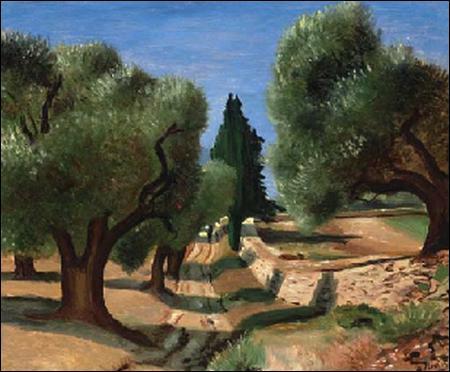 """Qui a peint """"Chemin aux oliviers en Provence"""" ?"""