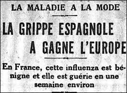 Pour quelle raison la pandémie de grippe espagnole est-elle passée relativement inaperçue dans l'opinion publique de l'époque ?