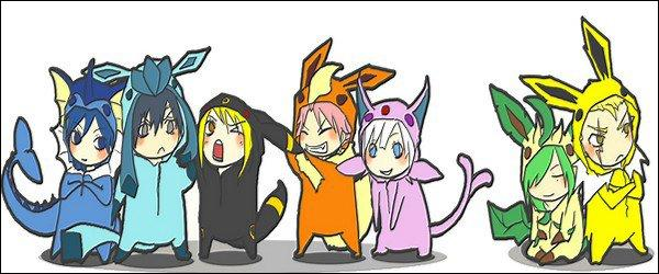 """En parlant de """"Pokémon"""", les autres personnages de """"Fairy Tail"""" se sont déguisés en évolution d'Evoli. Qui porte le costume d'Aquali ?"""