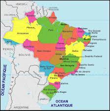 C'est la carte du Brésil.