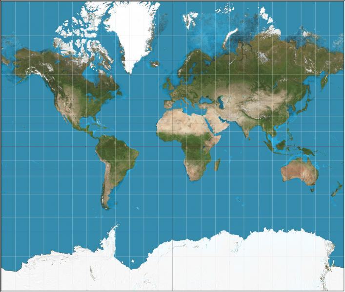 Qu'est-ce qu'une projection de Mercator ? Cette dernière est utilisée dans la plupart des cartes marines pour la navigation.