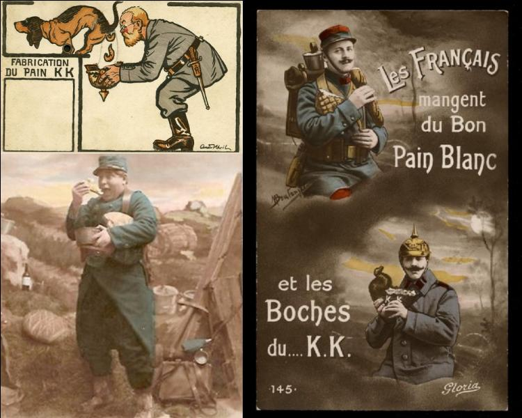 """En 14-18, les soldats Allemands mangeaient du pain """"KK"""" . Quel était l'ingrédient particulier de ce pain spécial, sujet de nombreuses blagues scatologiques de la part des Français ?"""