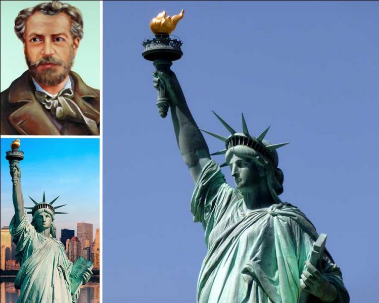 """Oeuvre du sculpteur français Auguste Bartholdi. Quelle date est inscrite en chiffres romains sur la tablette tenue par la main gauche de la statue de """"Miss Liberty"""" ?"""