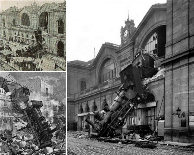 Le 22 octobre 1895, « Un train est tombé par la fenêtre dans la rue ! » . Cet accident, l'un des plus spectaculaires de l'histoire des chemins de fer français eut lieu dans quelle gare de Paris ?