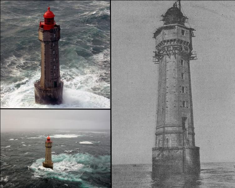 Commencée en 1904, la construction de ce phare situé au large d'Ouessant, à l'entrée de courants violents et où de nombreux naufrages eurent lieu, durera près de 7 ans...