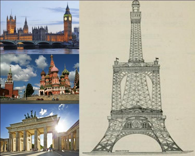 Inaugurée en 1889, la tour Eiffel fera de nombreux jaloux. Pour concurrencer la tour parisienne, un concours de désign est lancé. Dans quelle ville devait s'implanter ce projet qui ne verra jamais le jour ?