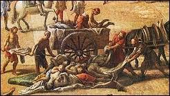 Partout les cimetières débordent de cadavres. On jette les morts dans d'immenses fosses communes creusées à la hâte. Qu'annonçait la peste noire pour une population plongée dans la superstition et l'obscurantisme ?