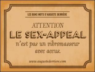 Qu'est-que le sex-appeal ?