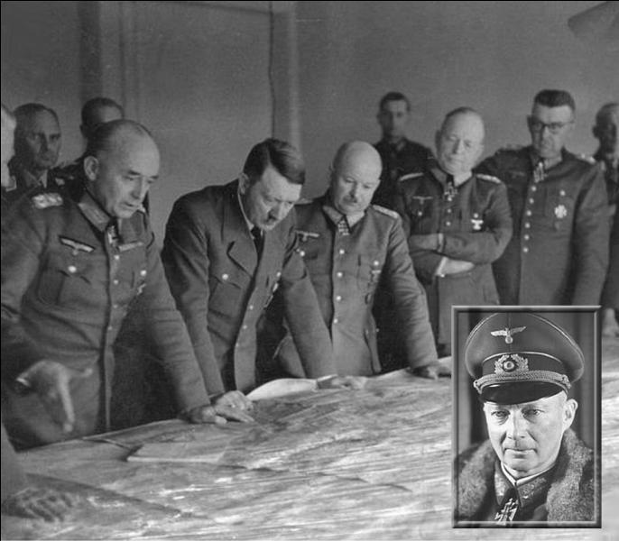 Ayant perdu la confiance d'Hitler à la suite de ses contre-attaques échouées en Normandie, ce général est remplacé au commandement du groupe d'armées B par Walter Model...