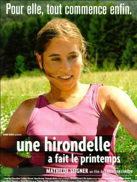 """Qui partage l'affiche avec Mathilde Seigner dans le film """"Une hirondelle a fait le printemps"""" ?"""