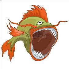 Mon premier est un poisson, mon deuxième mange tard :