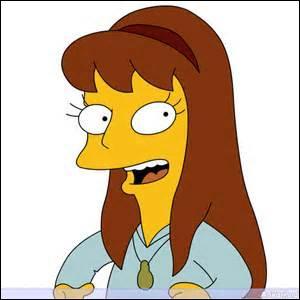 Dans un épisode, Lisa rencontre la nouvelle élève de sa classe qui n'a que 7 ans, elle a sauté une classe car elle s'ennuyait comme elle était intelligente. Lisa était donc jalouse, mais rappelez-vous, quel est le prénom de cette fille ?