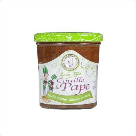 """Elle agrémentera bien des mets comme le foie gras ou le fromage, à base de quel fruit est confectionnée la """"Couille du Pape"""" ?"""
