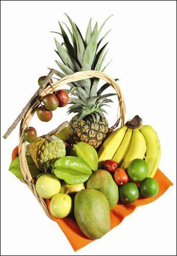 Nous finissons avec la corbeille de fruits exotiques, lequel de ces fruits n'y apparaît pas ?