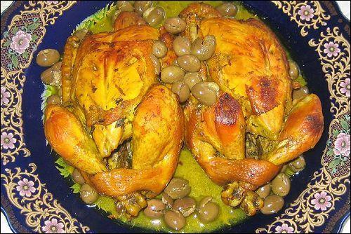 Quels fruits entrent dans la composition de cette tadjine de poulet ?