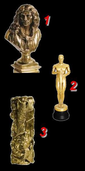 Lequel de ces trophées est un Oscar ?