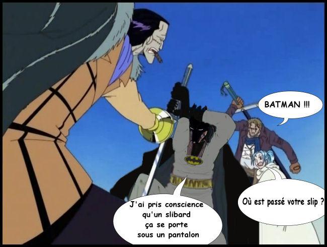 """Nous avons la chance de voir arriver Batman dans """"One Piece"""". Apparemment, il a pris conscience de quelque chose, quelle est-elle ?"""
