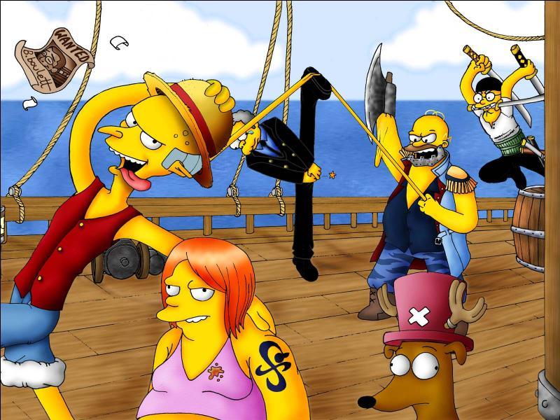 """Un dessin animé culte copie """"One Piece"""". Il s'agit bien évidemment de :"""