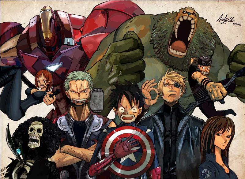 Continuons sur notre lancée de super-héros. Cette fois, en quoi est déguisé Luffy ?