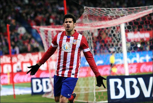 Quel a été son premier numéro de maillot à l'Atlético Madrid ?