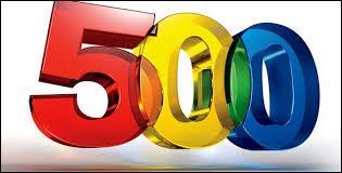 Comment écrit-on le 500 en chiffre romain ?