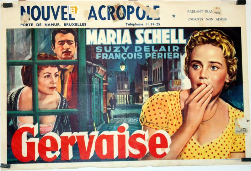 """De quel roman d'Emile Zola s'est inspiré le réalisateur René Clément, pour le film """"Gervaise"""", sorti en 1956 ?"""