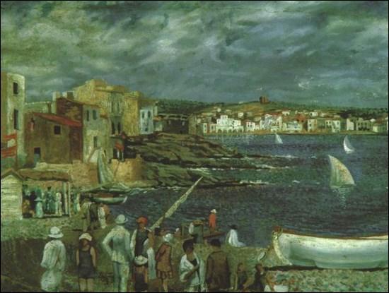 Voici la plage de llaner, peinte par Salvador Dali dans une ville de Catalogne, sur la costa Brava, quelle est cette jolie petite ville ?