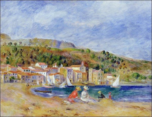 Toile d'Auguste Renoir, elle représente une ville varoise située tout près de la Londe les Maures et du Fort de Brégançon, à l'est de Toulon, entre la Londe et Cavalaire :