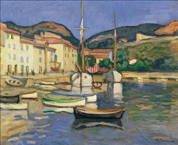 Quelle est cette petite ville des Bouches du Rhône, caractérisée par ses impressionnantes falaises, connue pour ses calanques, située 20 km à l'est de Marseille, représentée ici par le peintre Charles Camoin ?