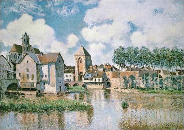 Quelle est cette petite cité représentée par Alfred Sisley, située en Seine-et-Marne, et où le peintre a vécu jusqu'à sa mort ?