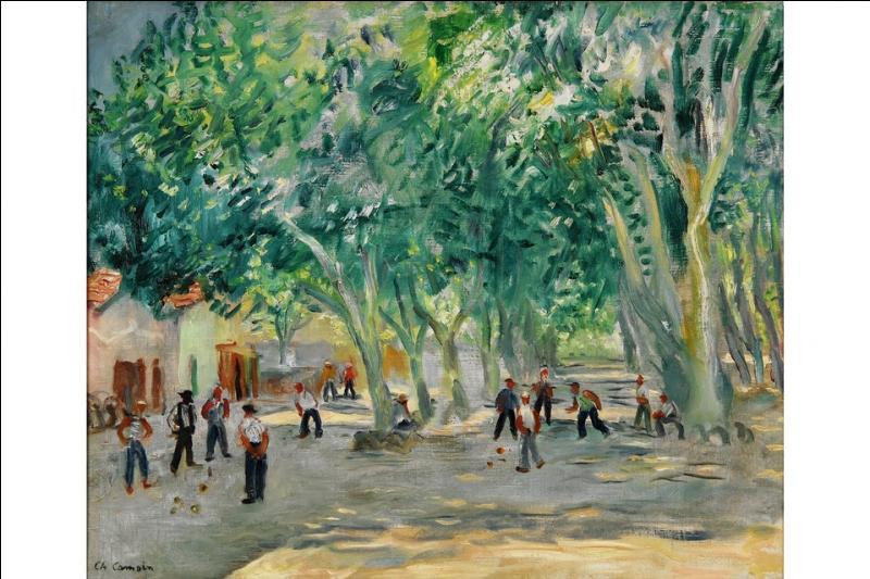Charles Camoin a peint ici les joueurs de boules de la place des Lices, quelle petite ville du Var, rendue célèbre par les films de Jean Girault, représente cette toile ?