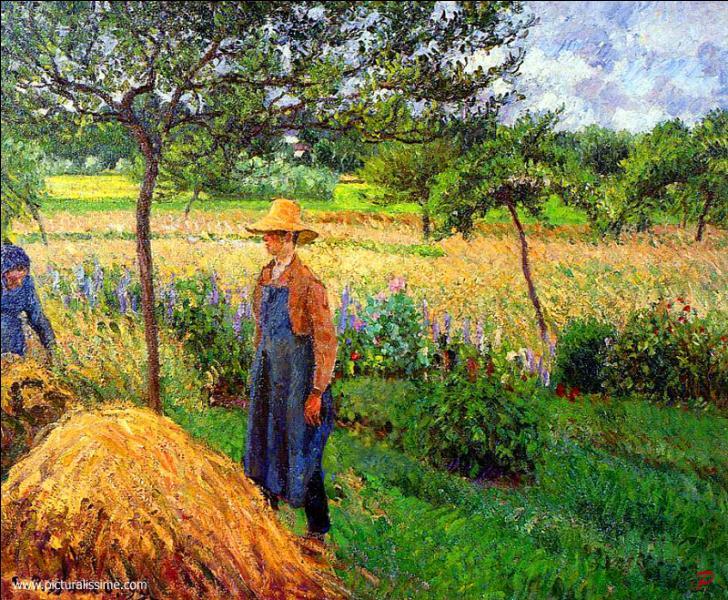 Quel est le titre de cette toile de Camille Pissarro qui a beaucoup représenté cette ville de la Région Ile-de-France dans le Val-dOise ?