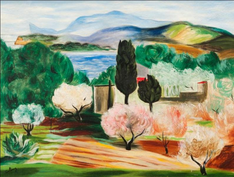L'auteur de cette toile est Moïse Kisling, il a vécu dans cette petite station balnéaire de la côte varoise, entre Bandol et Toulon, où il est mort, quel est le titre de ce tableau ?