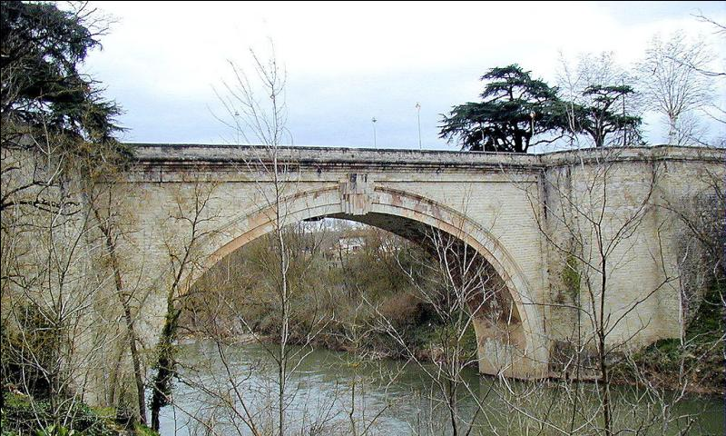 Le pont Saint-Roch de 49 mètres de long sur l'Agout a été construit en 1791 dans le département du Tarn à :