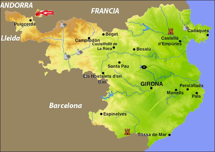 Quel est le nom de la ville, enclave espagnole en territoire français, entre Pyrénées espagnoles et françaises ?